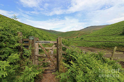 Photograph - Gate To Kinder Scout by Julia Gavin