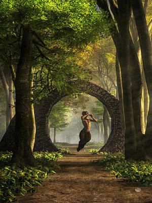 Fertility Digital Art - Gate To Pan's Garden by Daniel Eskridge