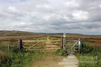 Photograph - Gate To Ashop Moor On The High Peak Derbyshire by Julia Gavin