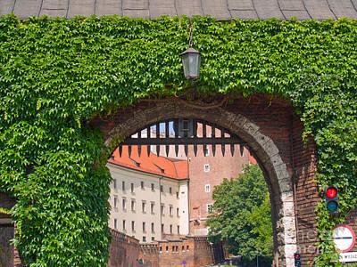 Gate To  Royal Castle Of Krakow Art Print