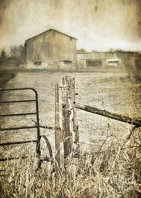 Photograph - Gate To The Barn by Hal Halli
