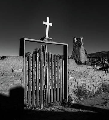 Grave Photograph - Gate With Cross by Joseph Smith