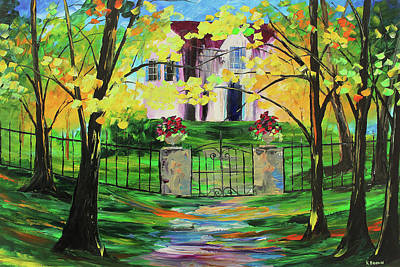 Painting - Gated House by Kevin Brown