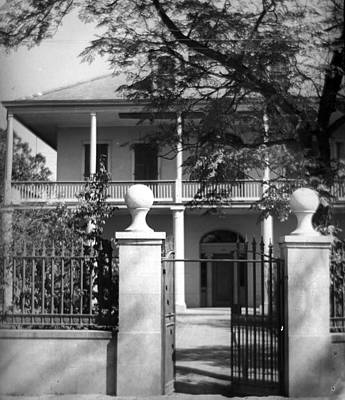 Gated Colonial Home Art Print