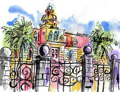 Painting - Gated Residence by Terry Banderas