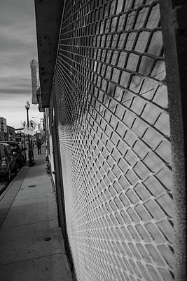 First Friday Photograph - Gated Store On Santa Fe Avenue - Denver Art District by Cary Leppert