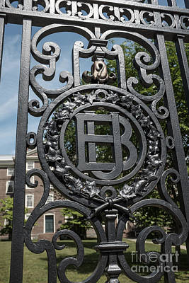 Seal Photograph - Gates Of Brown University Providence Rhode Island by Edward Fielding