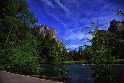 Photograph - Gates Of The Valley Night's Sky by Raymond Salani III