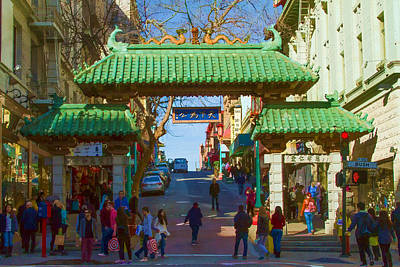 Photograph - Gates To Chinatown San Francisco by Bonnie Follett