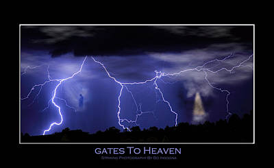Lightning Photograph - Gates To Heaven Color Poster by James BO  Insogna