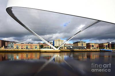 Gateshead Millennium Bridge Art Print by Nichola Denny