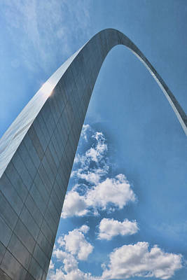 Photograph - Gateway Arch # 11 by Allen Beatty