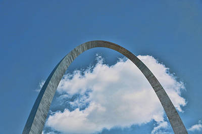 Photograph - Gateway Arch # 2 by Allen Beatty