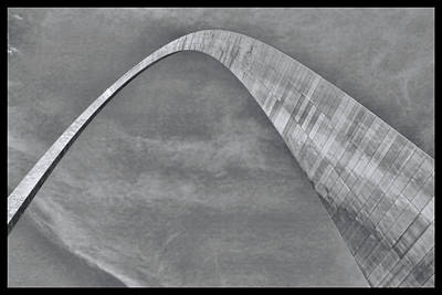 Photograph - Gateway Arch # 6 - B And W by Allen Beatty