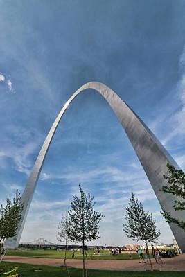 Photograph - Gateway Arch by Allen Beatty