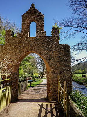 Photograph - Gateway Arch At Dunster Castle Somerset by Richard Brookes