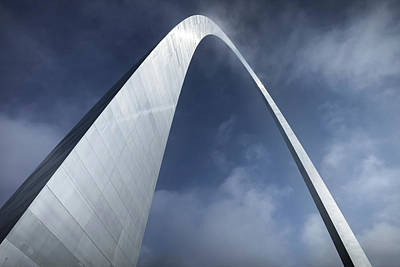 Photograph - Gateway Arch National Park With Cloudy Skies - Saint Louis Blue Sky by Gregory Ballos