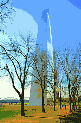 Jefferson Memorial Digital Art - Gateway Arch by Norman Coleman III