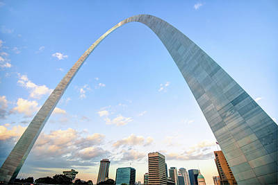 Photograph - Gateway Arch Skyline - Downtown Saint Louis Missouri by Gregory Ballos