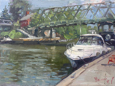 Yacht Painting - Gateway Harbor Park by Ylli Haruni