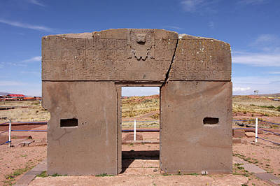 Photograph - Gateway Of The Sun, Tiwanaku, Bolivia by Aidan Moran