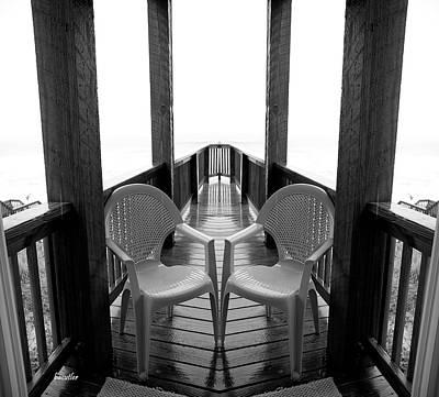Chairs Digital Art - Gateway Seats by Betsy Knapp