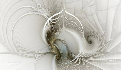 Mathematical Digital Art - Gateway To Heaven-fractal Art by Karin Kuhlmann