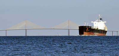 Sunshine Skyway Bridge Wall Art - Photograph - Gateway To Tampa Bay by David Lee Thompson