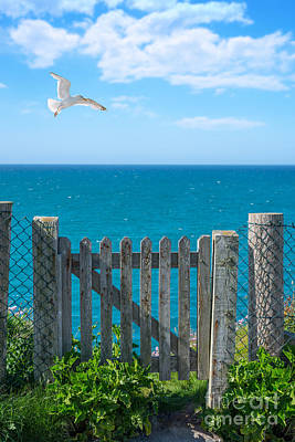 Wooden Fence Post Photograph - Gateway To The Sea by Amanda Elwell