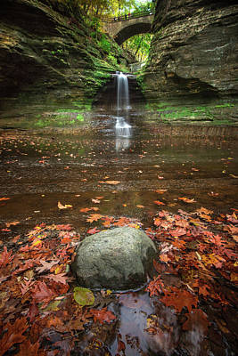 Starved Rock Wall Art - Photograph - Gather Around by Josh Eral
