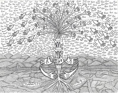 Gather Grow Give Go  Original by Martha Cuzzolino