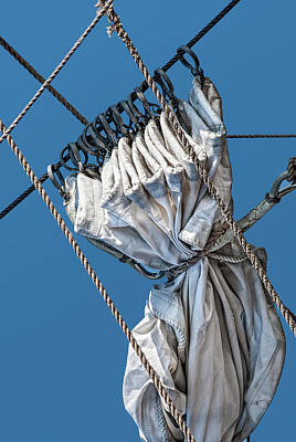 Photograph - Gathered Sail by Phil Cardamone