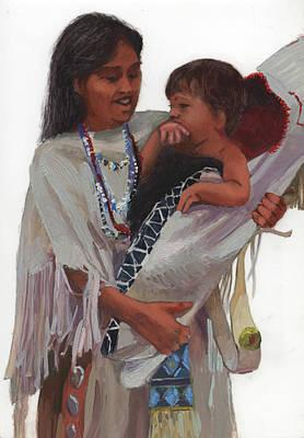 Betty Billups Wall Art - Painting - Gathered Tenderness by Betty Jean Billups
