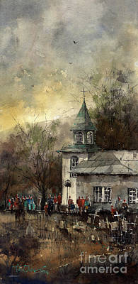 Painting - Gathering At San Patricio by Tim Oliver