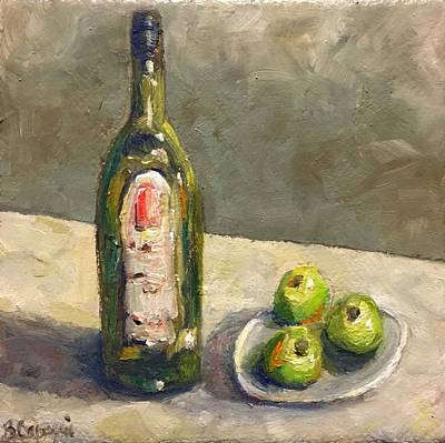 Italian Wine Painting -   Gathering by Beth Capogrossi