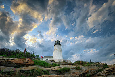 Photograph - Gathering Clouds At Pemaquid Point by Rick Berk