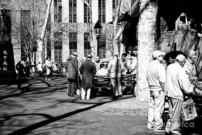 Photograph - Gathering In Columbus Park by John Rizzuto