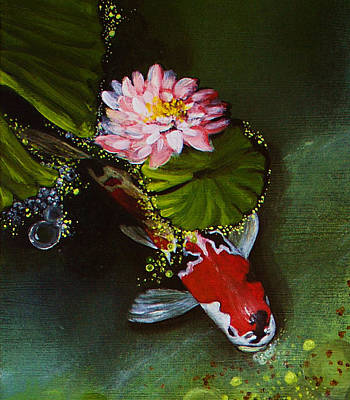 Lilly Pond Painting - Gathering In Light Up Close #2 by Vivian Holabird