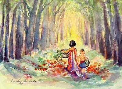 Painting - Gathering Medicine by Caroline Patrick