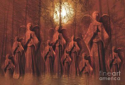 Gathering Of Angels Art Print