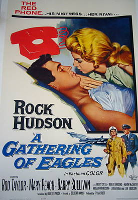 Gathering Of Eagles Movie Poster 1950s Original by Anonymous