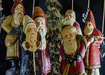 Photograph - Gathering Of Father Christmas by Stephanie Maatta Smith
