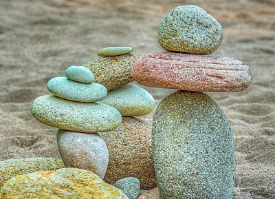 Photograph - Gathering Of River Rock by Dee Browning