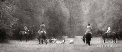 Photograph - Gathering Of The Hunt In Black And White by Angela Rath