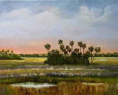 Painting - Gathering Of The Palms by Karen Langley