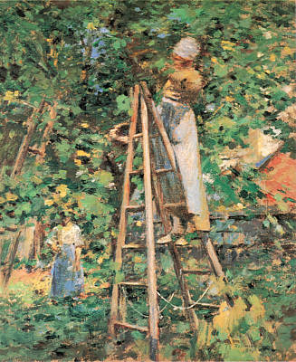Photograph - Gathering Plums by Theodore Robinson