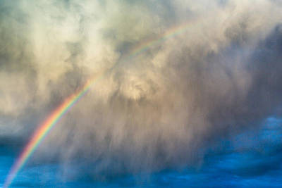 Photograph - Gathering Storm And Rainbow by SR Green