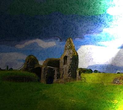 Ruins Mixed Media - Gathering Storm by Gra Howard