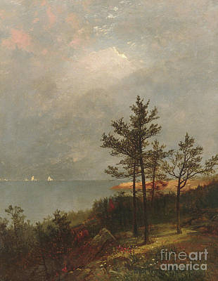 Luminism Painting - Gathering Storm On Long Island Sound, 1872 by John Frederick Kensett