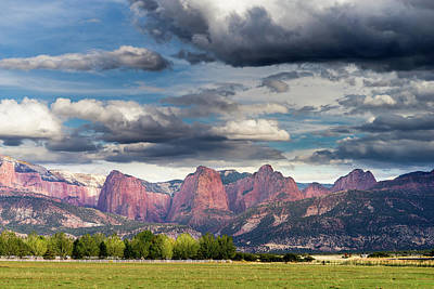 Photograph - Gathering Storm Over The Fingers Of Kolob by TL Mair